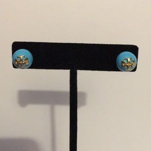 Authentic Tori Burch Earrings Turquoise Blue